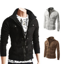 Outdoor Casual Men's Jacket 2021 Hot Sale Fashion Zipper Cardigan Jacket Multi-Color Optional Jacket