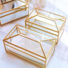 В европейском стиле, стеклянные держатель коробки для салфеток, скандинавский роскошный носовой платок, держатель для туалетной бумаги, коробка для хранения салфеток, декор для гостиной