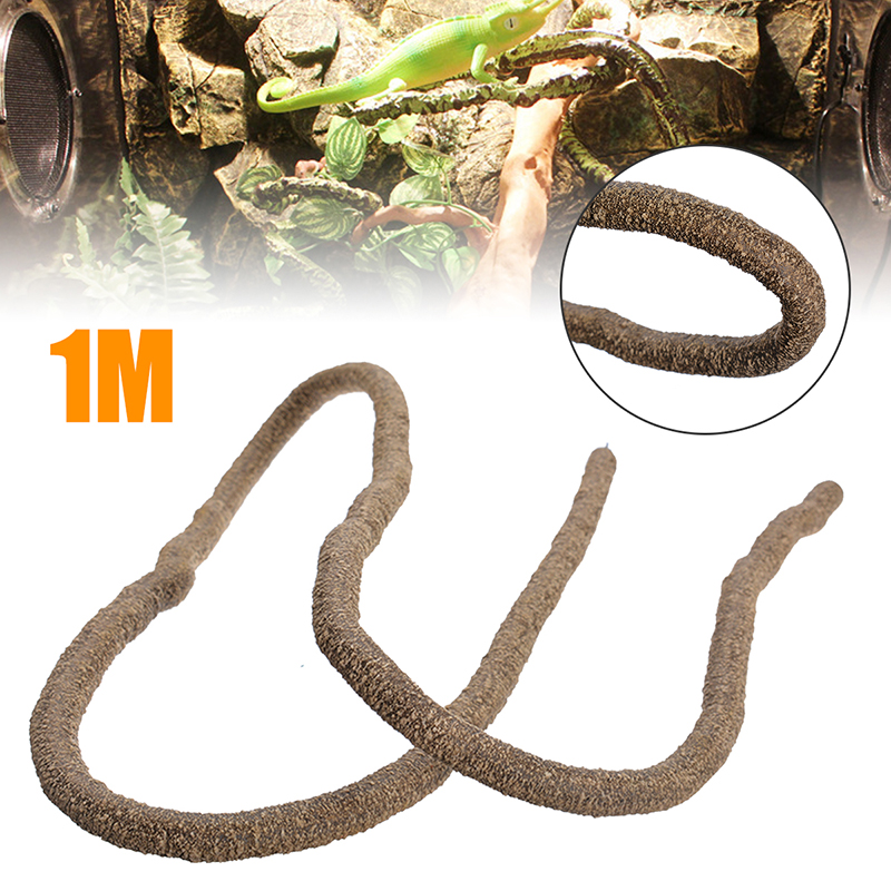 1Meter Reptiles Vine Climber Jungle Forest Bend Artificial  Reptiles Habitat Branch Terrarium Decoration Not Suction Cup Include