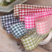 100yards 25mm 40mm houndstooth plaid ribbon for garment apparel accessories hair bow diy craft supplies bouquet gift packing цена и фото