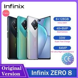 Глобальная версия Infinix Zero 8 8 ГБ 128 Гб Смартфон 6,85 ''FHD 90 Гц полный экран 64-мегапиксельная четырехъядерная камера 4500 мАч 33 Вт Зарядное устройств...