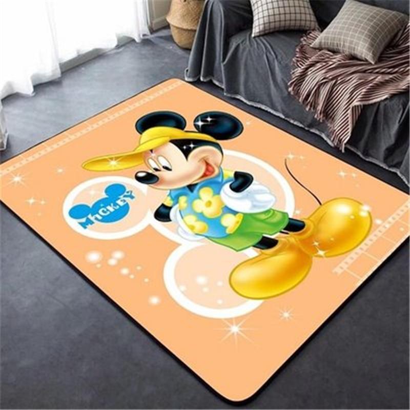 80x160CM Mickey Kids Play Mat   Carpet for Living Room Floor Mat Bedside Hallway Doormat  Bedroom Carpet Home Decoration