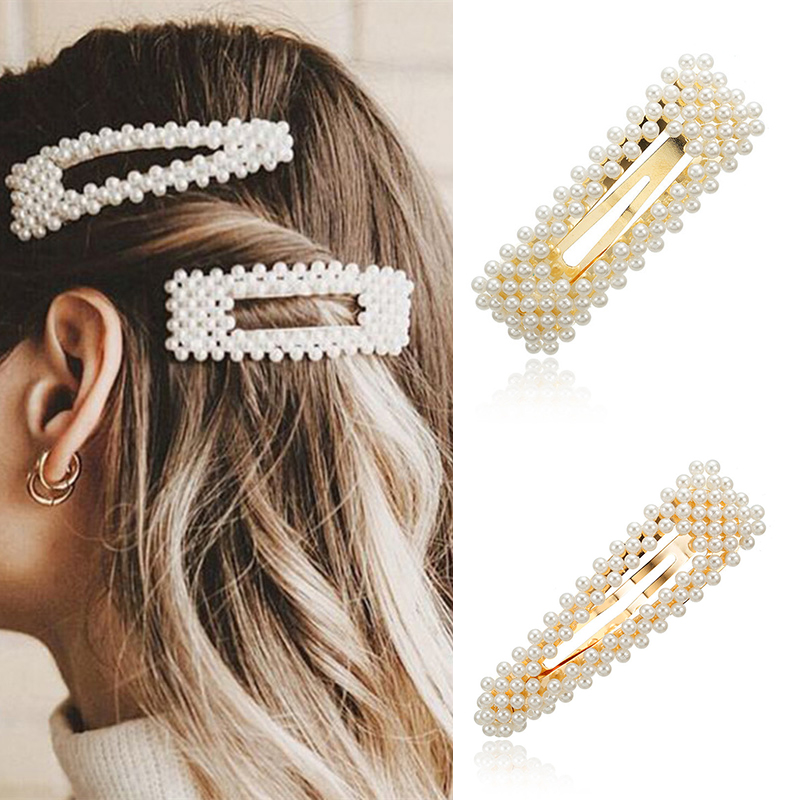 2019 New Fashion Pearl Hair Clip For Women Elegant Korean Design Snap Barrette Stick