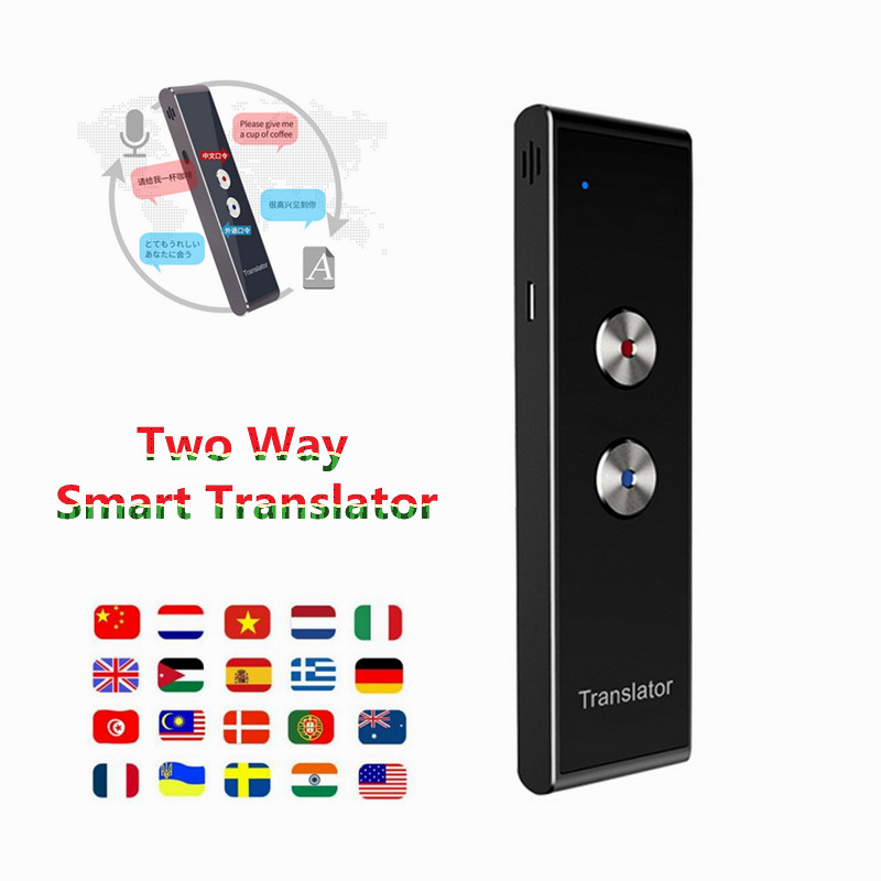 Portable Smart Voice Translator Two Way Upgrade Version for Learning Travel Business Meeting 3 in 1 voice Language Translator image