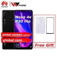 Huawei nova 4e huawei p30 lite téléphone portable 6.15 pouces 3 caméra arrière Kirin710 Octa Core face ID Android 9.0 empreinte digitale id