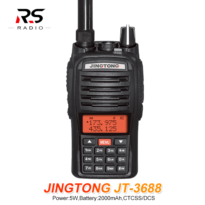 JINGTONG JT-3688 5W 2000mAh Walkie Talkie Rádio 10km Two Way Radio Station Woki Toki 1PC Ham Radio Yaesu Hf Transceiver Vhf Tyt