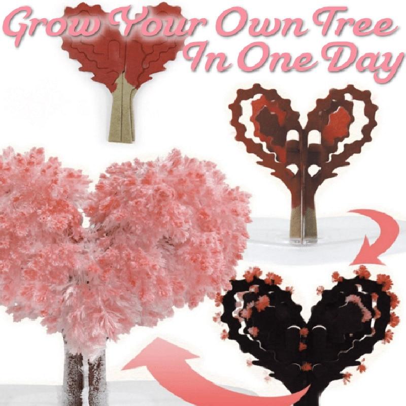 2019 New Product Magic Growing Tree Paper Sakura Crystal Trees Desktop Cherry Blossom Toys  L5 #4