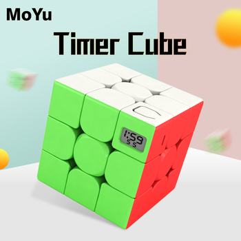 MoYu Classroom meilong 3 Magic Timer Cube stickerless puzzle cubes professional speed cube educational toys for students gift new moyu cubing classroom meilong pyramid cube 3x3x3 stickerless magic speed cubes professional puzzle cubes education toys