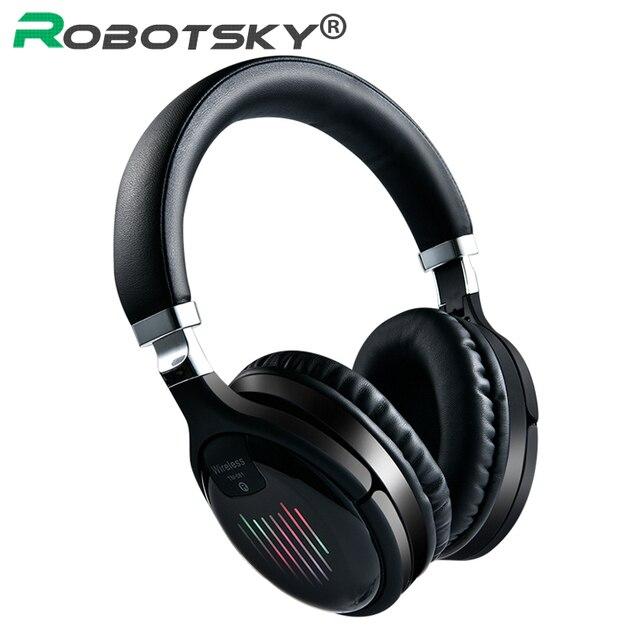 Cuffie da gioco Wireless Bluetooth V4.2 cuffie Stereo HD pieghevoli cuffie intelligenti con cancellazione del rumore supporto TF Card