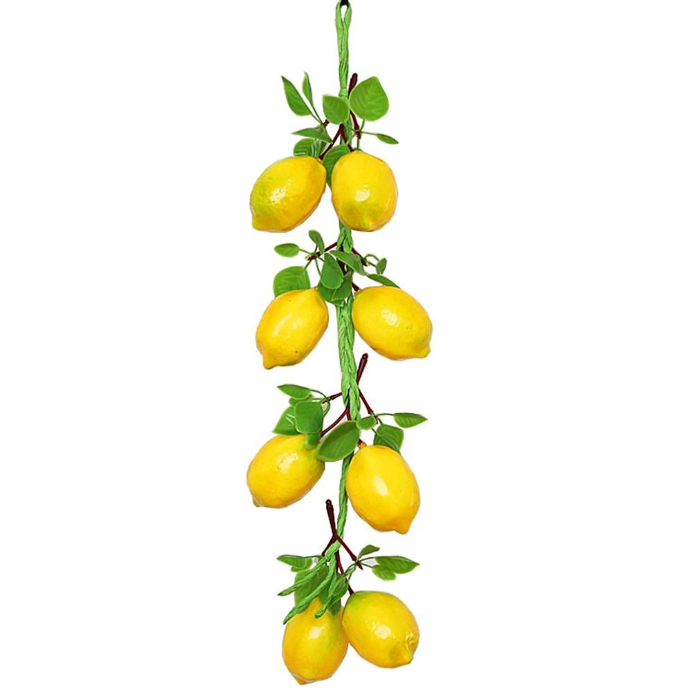 Simulação fruta vegetal corda artificial espuma de limão modelo fazenda hotel pendurado fotografia prop pingente para decoração