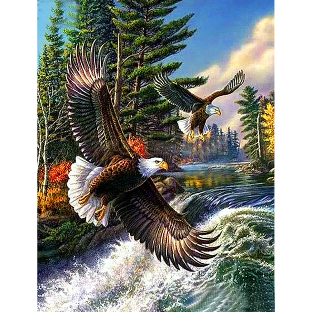 Full Square/Round Drill 5D DIY Diamond Painting Animal Eagle 3D Rhinestone Embroidery Cross Stitch 5D Home Decor image