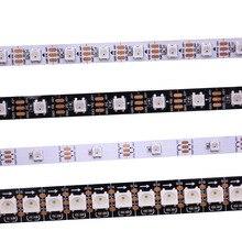 1 m/5 m WS2812B Smart led pixel streifen, Schwarz/Weiß PCB, 30/60/144 leds/m WS2812 IC; WS2812B/M 30/60/144 pixel, IP30/IP65/IP67 DC5V
