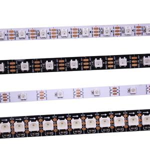 Image 1 - 1 m/5 m WS2812B الذكية led بكسل قطاع ، الأسود/الأبيض PCB ، 30/60/144 المصابيح/m WS2812 IC. WS2812B/M 30/60/144 بكسل ، IP30/IP65/IP67 DC5V