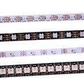 Умная светодиодная Пиксельная лента WS2812B 1 м/5 м, черная/белая печатная плата, 30/60/144 светодиодов/m WS2812 IC;WS2812B/m 30/60/144 пикселей, IP30/IP65/IP67 DC5V
