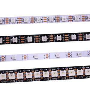 Image 1 - 1m/5m WS2812B Smart led pixel strip,Black/White PCB,30/60/144 leds/m WS2812 IC;WS2812B/M 30/60/144 pixels,IP30/IP65/IP67 DC5V