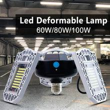 WENNI LED Lamp 60W 80W 100W Bulb E27 220V Lampara E26 Light Sensor 110V Garage High Lumens For Warehouse 2835