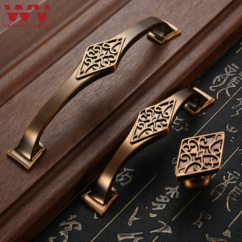 WV Classical Cabinet Medicine Red Bronze Cabinet Handle Antique Copper Cabinet Bookcase Drawer Wardrobe Wine Cabinet Pulls 6072 [haotian] bronze fast new chinese classical furniture of ming and qing antique copper copper locking plate door handle landscape