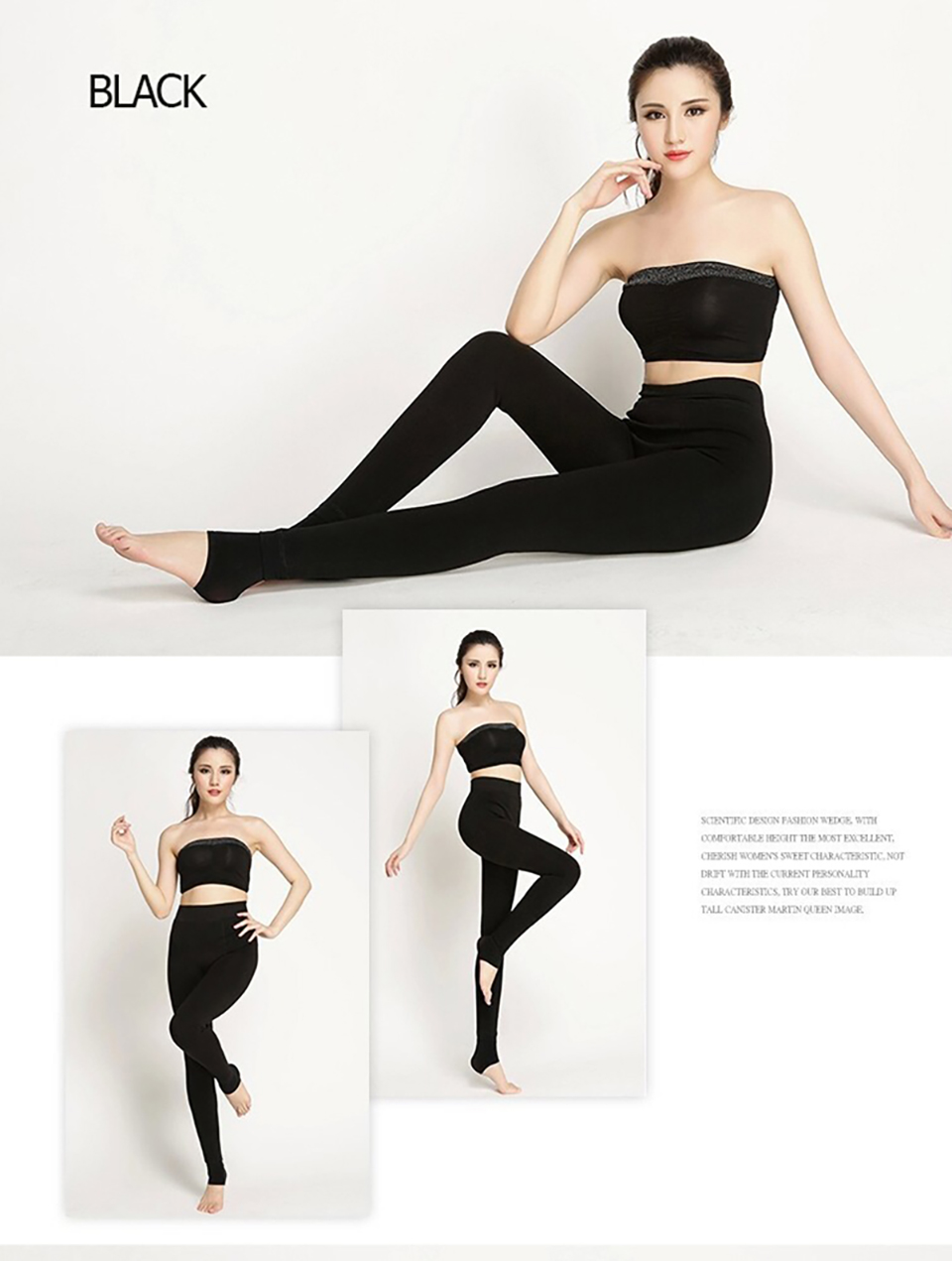 SALSPOR S-3XL Solid Color Women Winter Velet Trousers Female High Elastic Warm Nine pants Ladies Sexy High Waist Slim Leggins 30