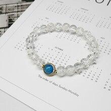 Itaqiu Blue Sea Eye Pure Natural Stone Beads Bracelet For Woman Man Lover Gift Couple 2020 New Bohemia Boho Jewelry