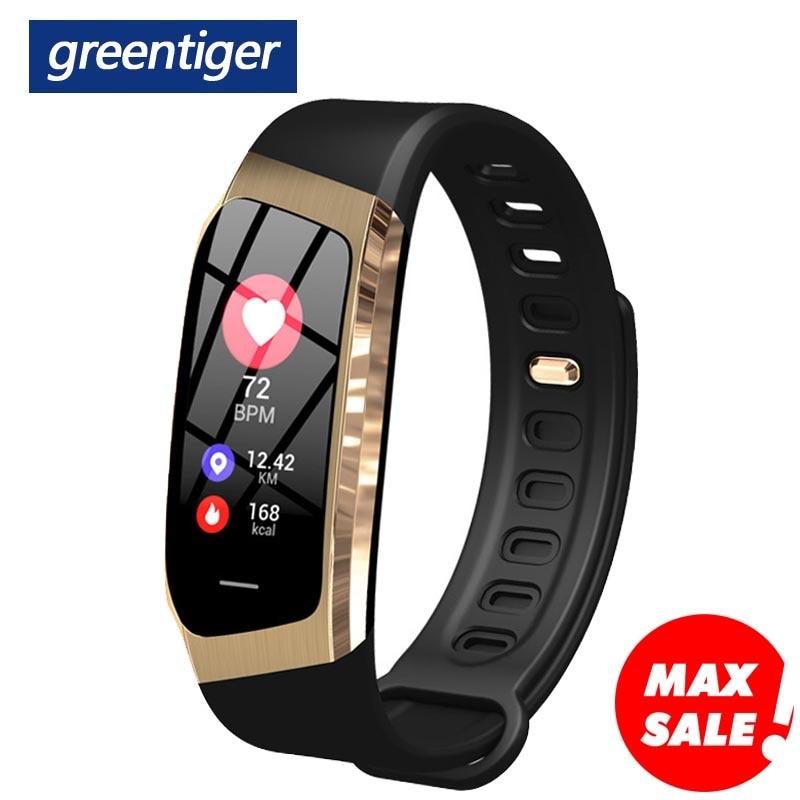 Greentiger E18 Smart Bracelet Blood Pressure Heart Rate Monitor Fitness Tracker smart watch IP67 Waterproof camera Innrech Market.com