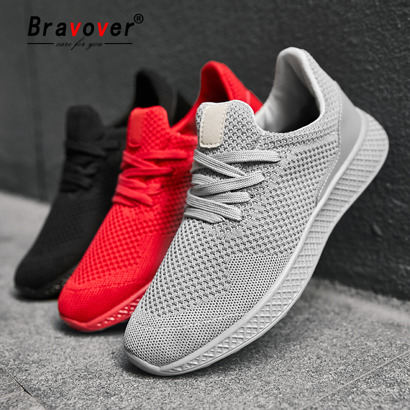 Bravover New Arrival Running Shoes For Man Breathable Comfortable Lovers Shoes Jogging Gym Training Outdoor Sport Shoes