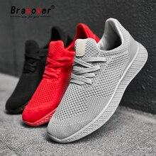 Bravover جديد وصول احذية الجري للرجل تنفس مريح عشاق أحذية الركض رياضة التدريب في الهواء الطلق أحذية رياضية