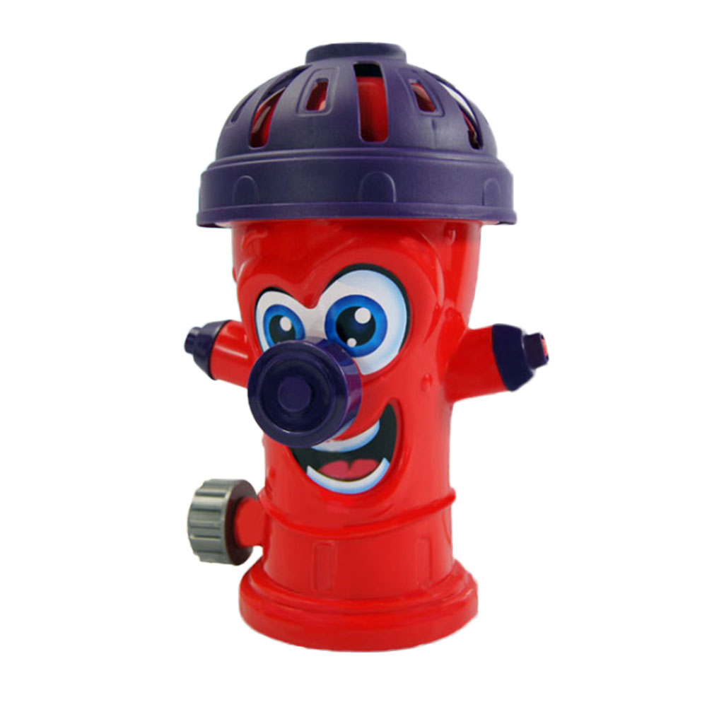 Summer Outdoor Rotating Water Spray Toy Cute Simulation Fire Hydrant Water Sprayer Kid's Garden Water Play Game Birthday Present