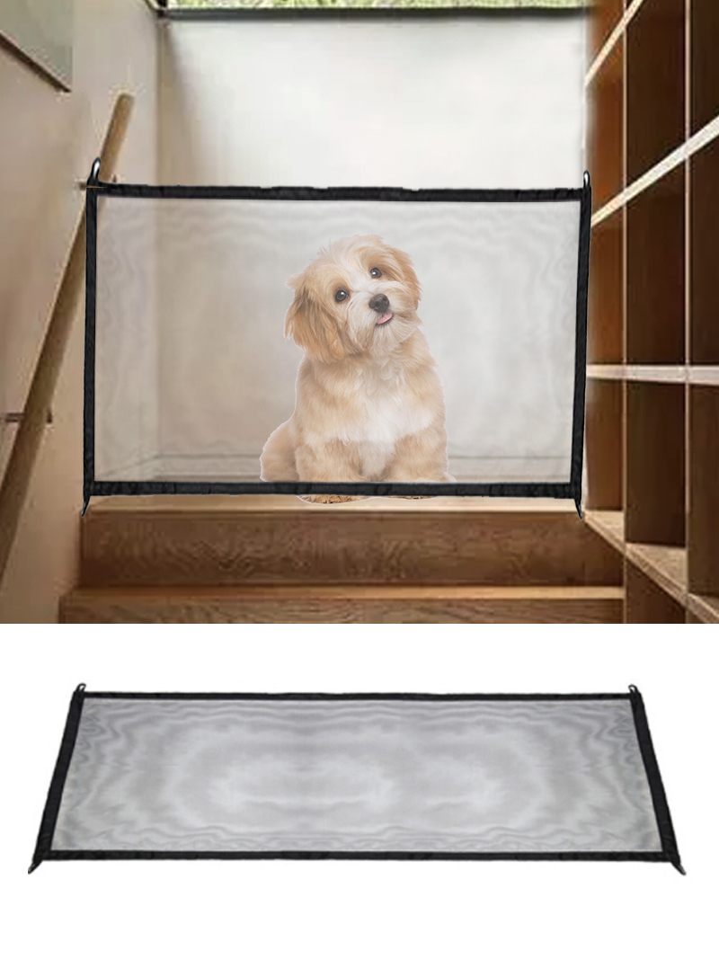New Magic-Gate Dog Pet Fences Portable Folding Safe Guard Indoor And Outdoor Protection Safety Magic Gate For Dogs Cat Pet