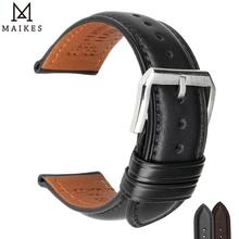 MAIKES Soft Calf Genuine Leather Watch Strap 18mm 19mm 20mm 21mm 22mm 24mm Watch Band for Tissot Seiko Accessories Wristband