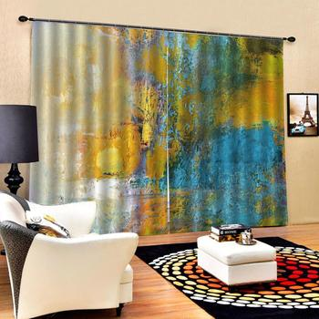yellow curtains Customized size Luxury Blackout 3D Window Curtains For Living Room Decoration curtains