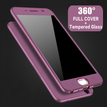 360 Full Cover Protective Case+Glass For Samsung Galaxy S20 Ultra S8 S10 S9 Plus Note 10 S 7 A50 A70 A71 A51 A40 S6 S7 Edge A 70 - For NOTE 9, purple