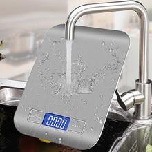 10/5/3kg oz/ml/lb/g balança de cozinha de aço inoxidável balança de peso comida dieta balança postal ferramenta de medição lcd escalas eletrônicas