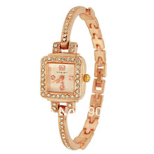 King Girl Fashion Brand Watches Luxury Diamond Rose Gold Quartz Women Bangle horloges vrouwen