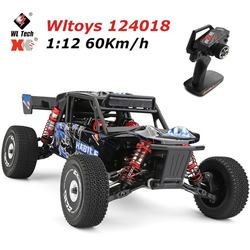 Wltoys 124018 RTR 1:12 2.4G 4WD 60km/h Racing Metal Chassis RC Car Off-Road Drifting Remote Control Vehicles Models Toys for Kid