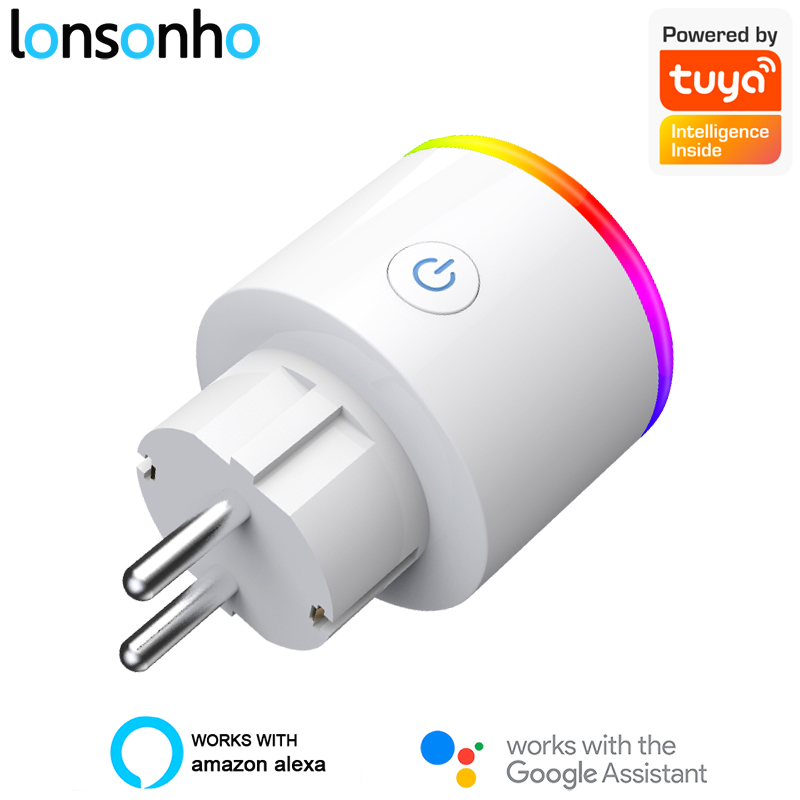 Lonsonho Tuya Smart Plug WiFi Smart Socket EU Plug Type F 16A Power Monitor Wireless Control Compatible Alexa Google Home Mini(China)
