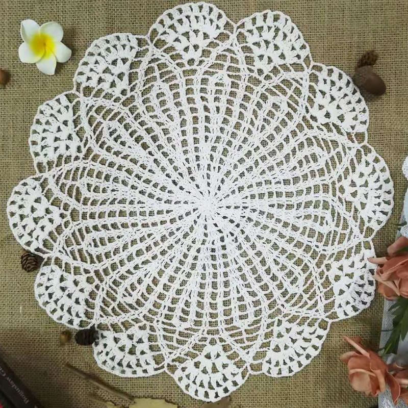 Modern Cotton Crochet Bed Table Runner Cloth Cover Dining Lace Tea Coffee Tablecloth Mat Christmas Party Wedding Decor