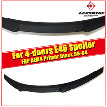 E46 4-door M4 style Trunk Spoiler Wing FRP Unpainted For BMW 3 series 323i 325i 328i 330i High Kick Big wing rear spoiler 96-04