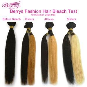 Image 4 - Brasilianische Reines Haar Gerade Haar Extensions 3 Bundles/Lot 8 34 Zoll Doppel Maschinen Einschlag Natürliche Farbe Berrys mode Haar