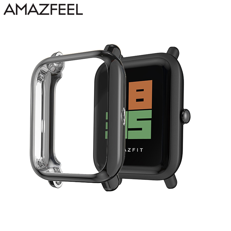 For Huami Amazfit Bip Case Protector For Amazfit Bip Accessories Bumper Plating TPU Smart Watch Case Protection