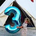 40 дюймовые большие синие воздушные шары с числами цифра 3 дня рождения 3 года Anniversaire украшение для маленьких мальчиков большой номер 7 8 9