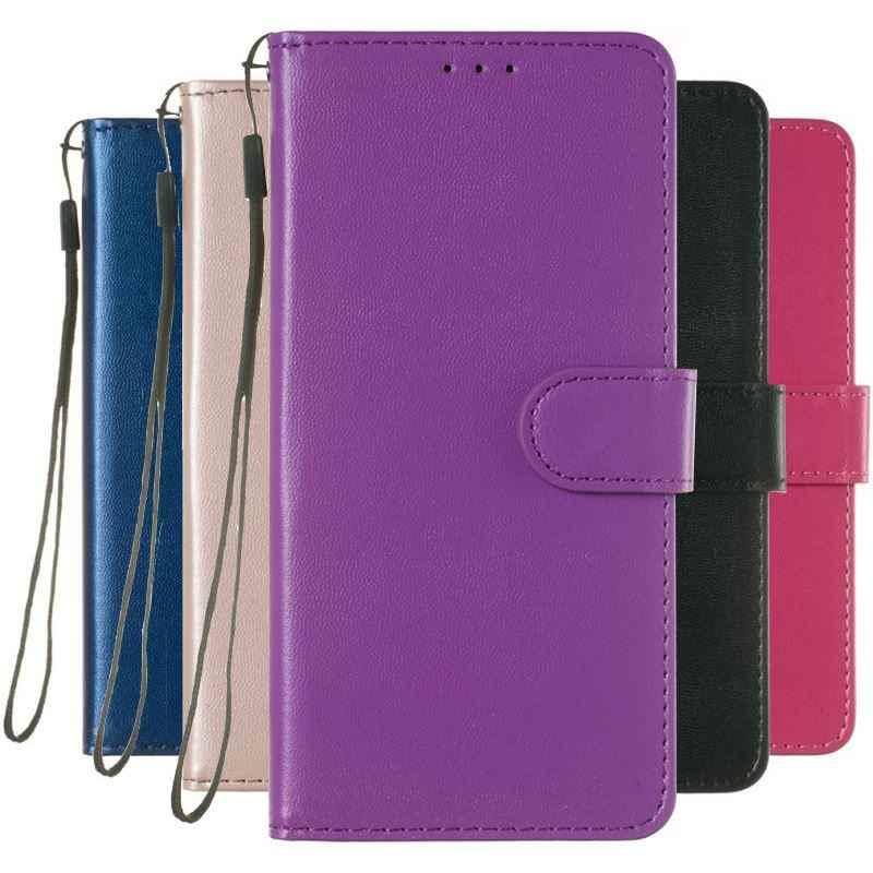 Fashion Vintage Case For Nokia 4.2 3.2 1 3 5 6 8 7 Plus 2.1 3.1 5.1 6.1 7.1 2018 Simple Solid Color Wallet Leather Cover P01Z