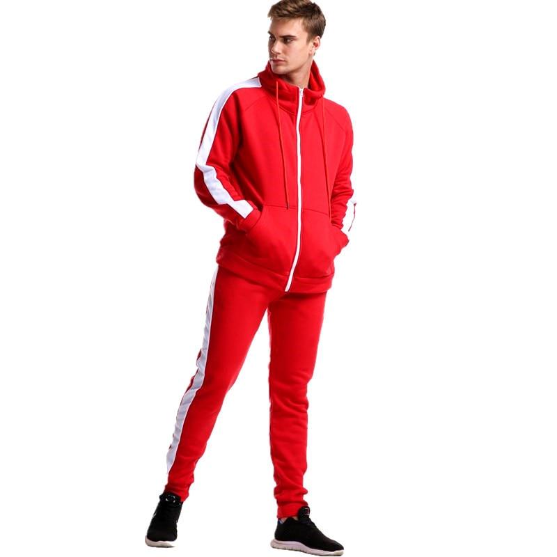 Image 4 - 2019 Autumn brand sporting suit men Suit Men Hoodies Sets Mens Gyms Sportswear Jogger Suit Male Tracksuit sets-in Men's Sets from Men's Clothing