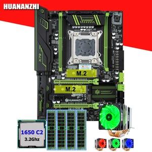 HUANANZHI X79 Pro desktop motherboard with DUAL M.2 NVMe SSD slot CPU Intel Xeon E5 1650 C2 3.2GHz 6 tubes cooler RAM 16G(4*4G)