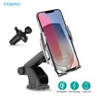 10W Qi Sem Fio Car Charger Mount Infrared Sensor Automático de Carregamento Rápido Phone Holder Para o iphone 11 XS XR X 8 Samsung S10 S9 S8
