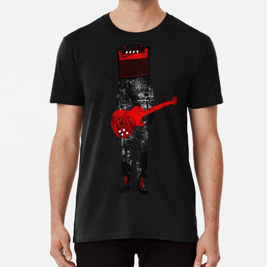 Amplified T shirt guitar music rocker heavy metal cool musician