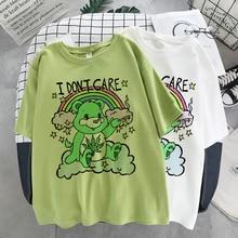 Summer gothic female T-shirt aesthetic loose bear T-shirt punk dark style street clothing ladies T-shirt Harajuku top clothes