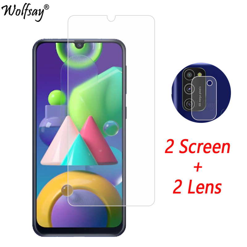 Camera Lens Protector For Samsung Galaxy M21 Screen Protector Tempered Glass For Galaxy M21 Camera Glass For Samsung M21 Glass