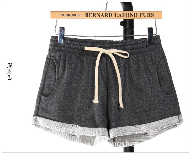 Booty Woman Shorts Summer Black Plus Size Short Femme Sport Lace Up Elastic High Waist Loose Wide Legs Casual Home Comfy Shorts 13