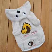 Модная толстовка из флиса с кроликом; Белая одежда для собак;