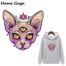 Homegaga cartoon cat heat press stickers iron on patches DIY Handmade patches on clothes jacket t shirt thermal transfer D1752 blinghero cartoon thermal patches cute iron on patch stickers t shirt jacket heat transfer patches diy pacth bh0350